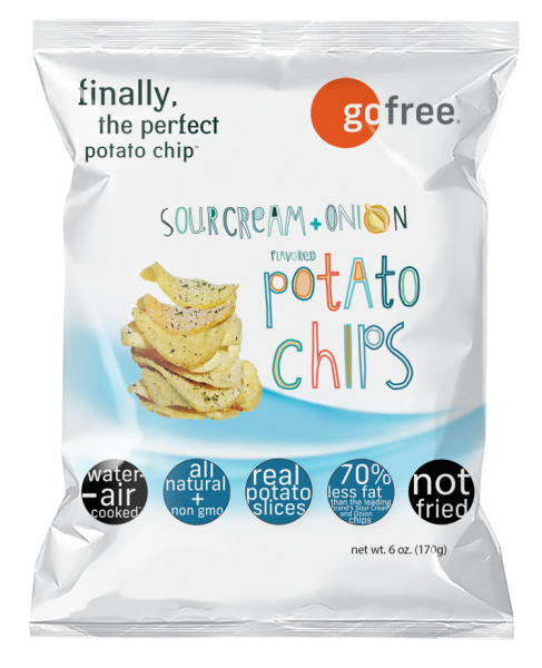go free sour cream and onion potato chips